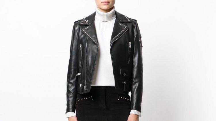 Saint Laurent Studded Collar Jacket $4,990