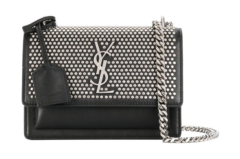 Saint Laurent Studded Mini Sunset Bag $2,290