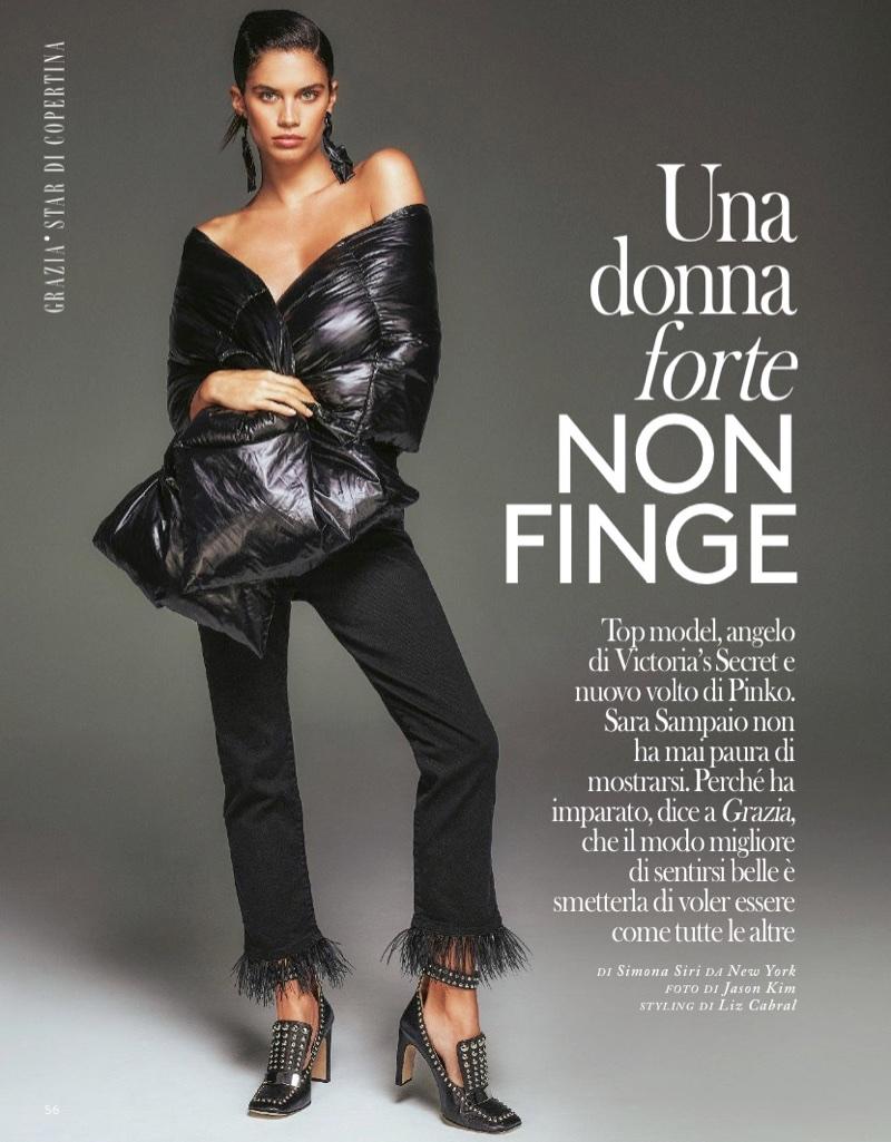 Sara Sampaio Turns Up the Glam Factor for Grazia Italy