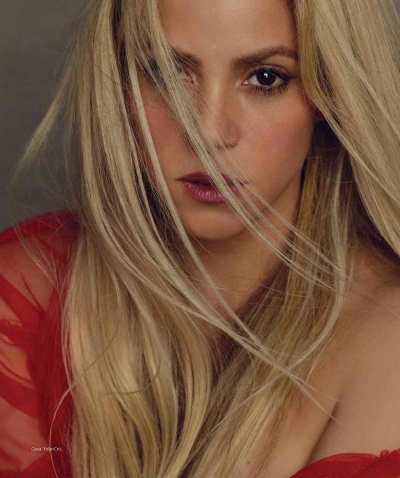 Shakira gets her closeup in a YolanCris cape