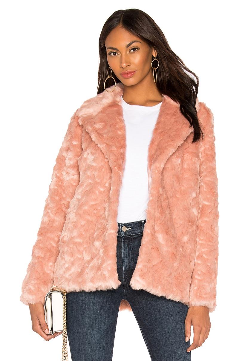 Show Me Your Mumu Park Ave Faux Fur Jacket $198