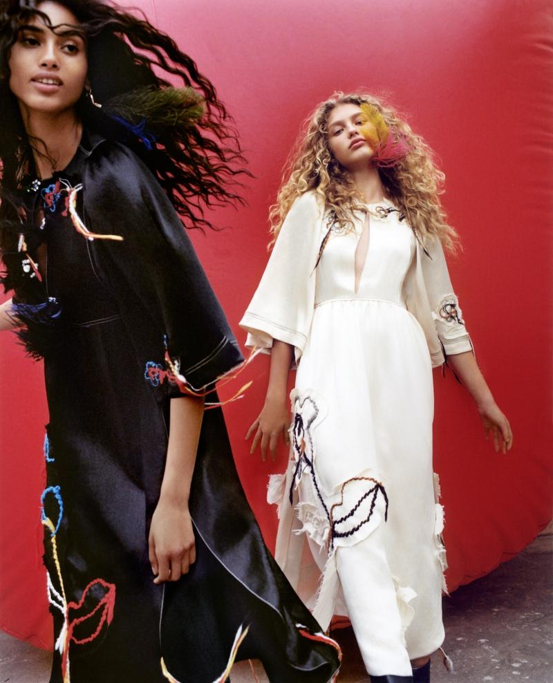 Imaan Hammam and Dorit Revelis star in Sonia Rykiel's fall-winter 2017 campaign