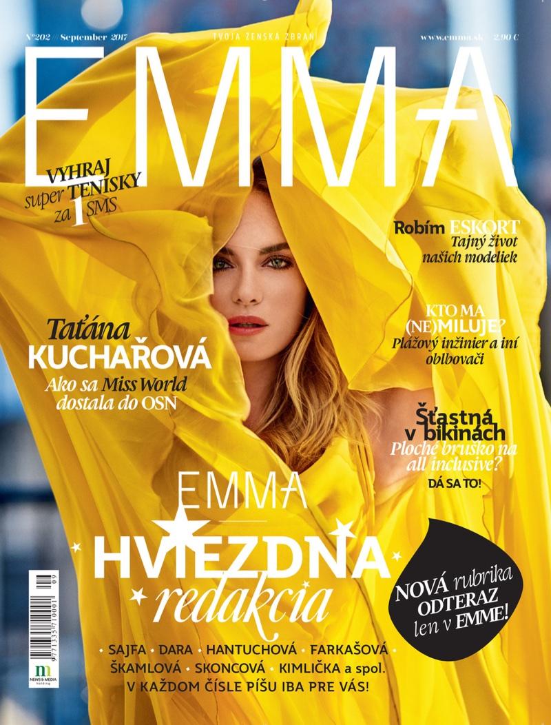 Tatana Kucharova Poses in Dreamy Gowns for Emma Magazine