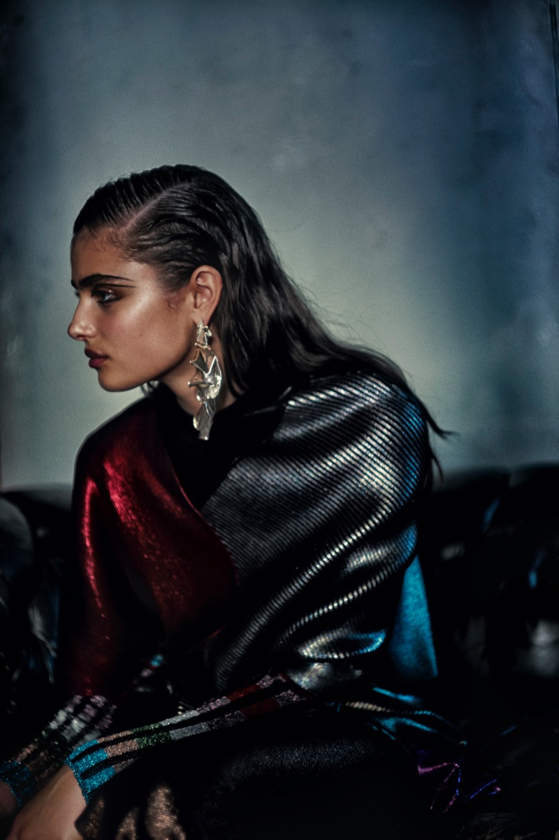 Taylor Hill Poses in Fall Fashions for RUSSH Magazine