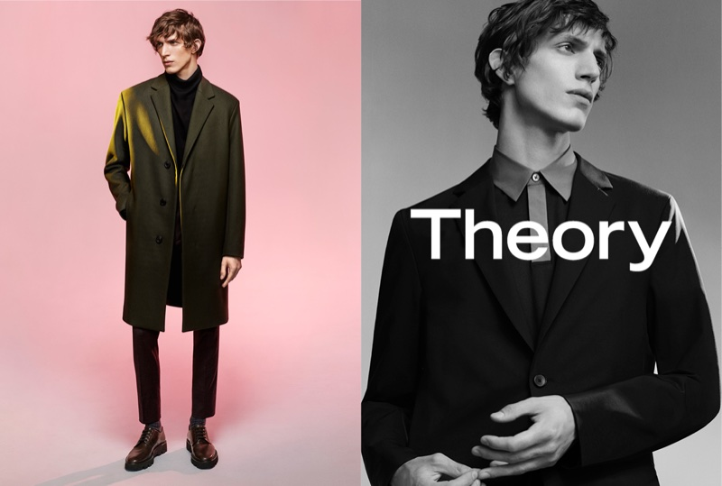 Xavier Buestel fronts Theory's fall-winter 2017 campaign