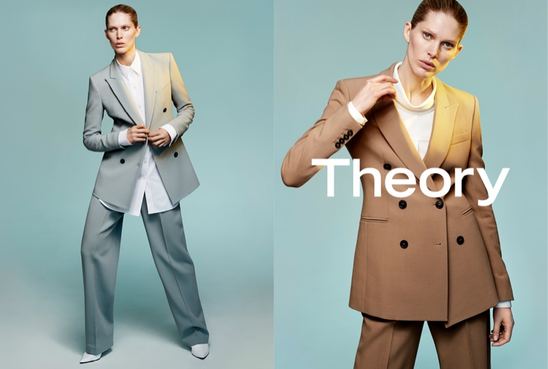 Iselin Steiro suits up in Theory's fall-winter 2017 campaign
