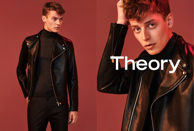 Janis Ancens fronts Theory's fall-winter 2017 campaign