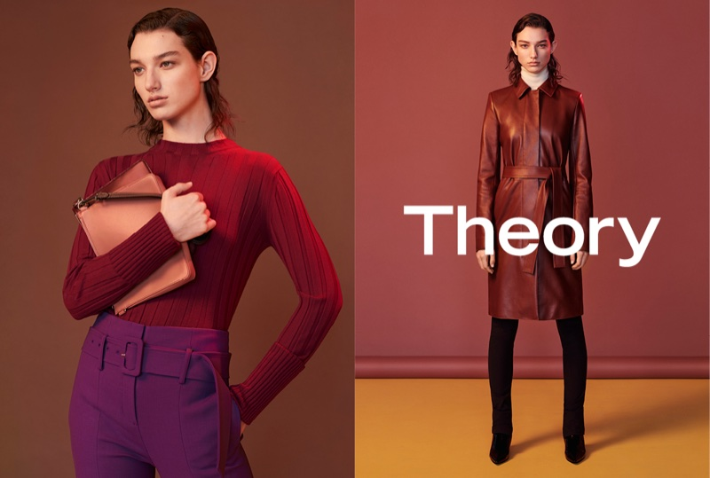 McKenna Hellam stars in Theory's fall-winter 2017 campaign