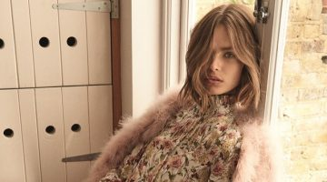 Faux fur and floral prints stand out in Topshop's fall 2017 campaign
