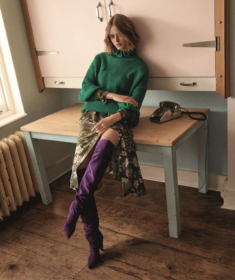 Birgit Kos fronts Topshop's fall 2017 campaign