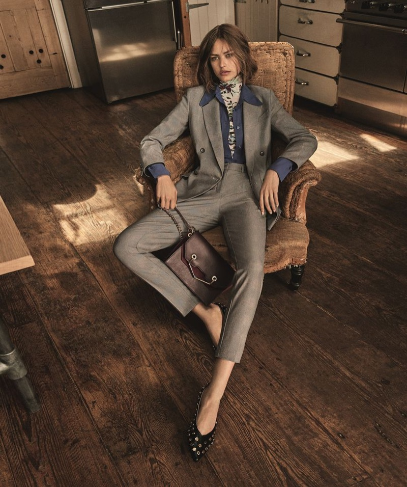 Birgit Kos suits up in Topshop's fall 2017 campaign
