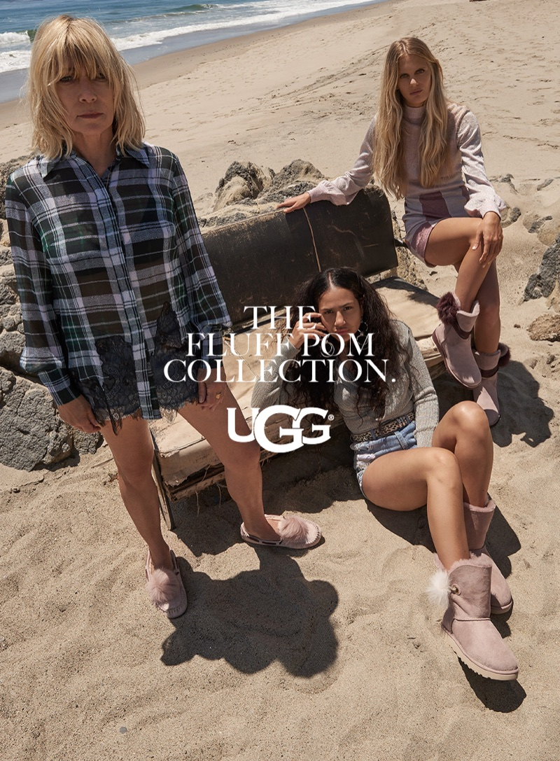 UGG features the Fluff Pom collection in fall-winter 2017 campaign