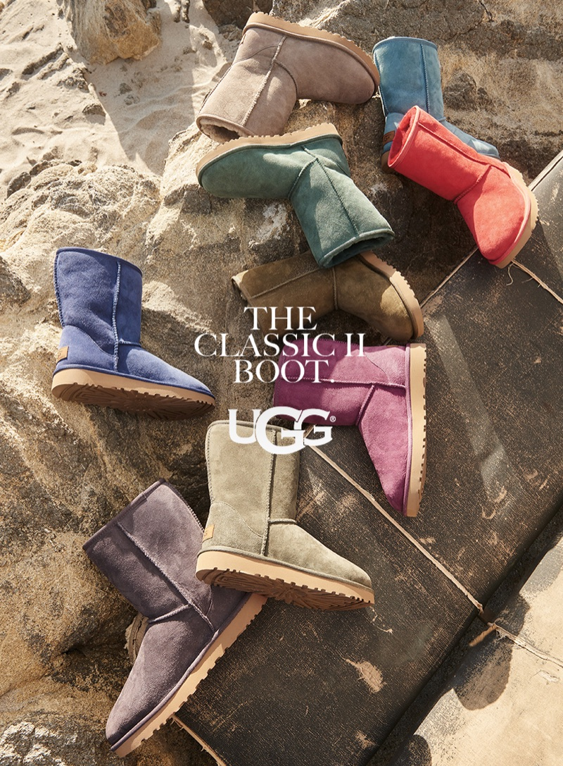 UGG showcases the Classic boot in different colorways for fall-winter 2017 campaign