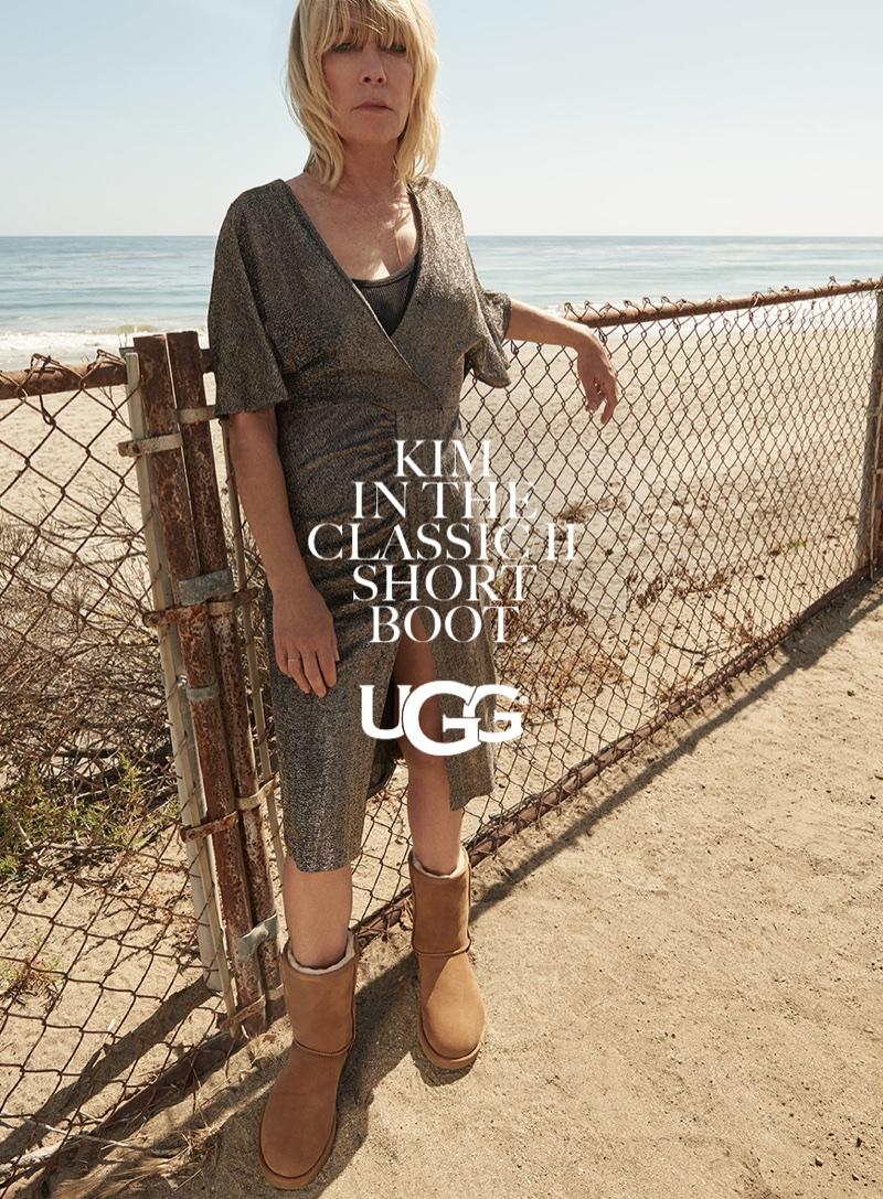 Kim Gordon wears UGG's classic II short boot in fall-winter 2017 campaign