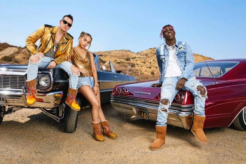 Jeremy Scott, Jasmine Sanders and Lil Yachty front UGG x Jeremy Scott campaign