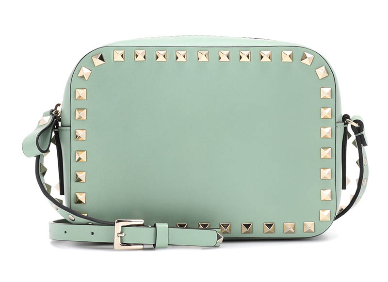Valentino Rockstud Leather Cross-Body Bag $1,275