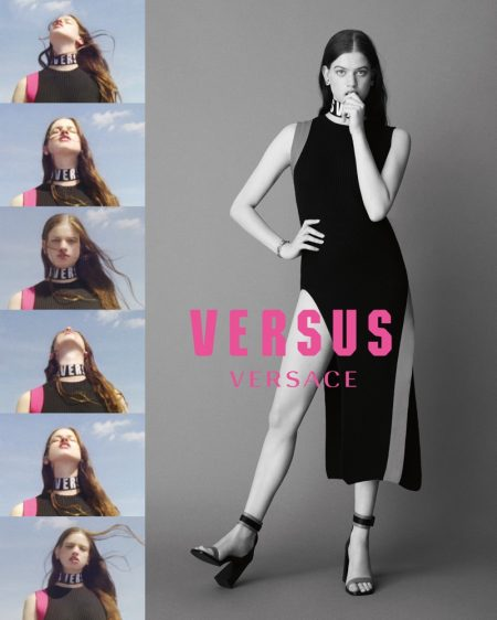 Lily McMenamy stars in Versus Versace's fall-winter 2017 campaign
