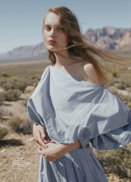 Victoria Anderson Models Chic Desert Styles for Marie Claire Australia