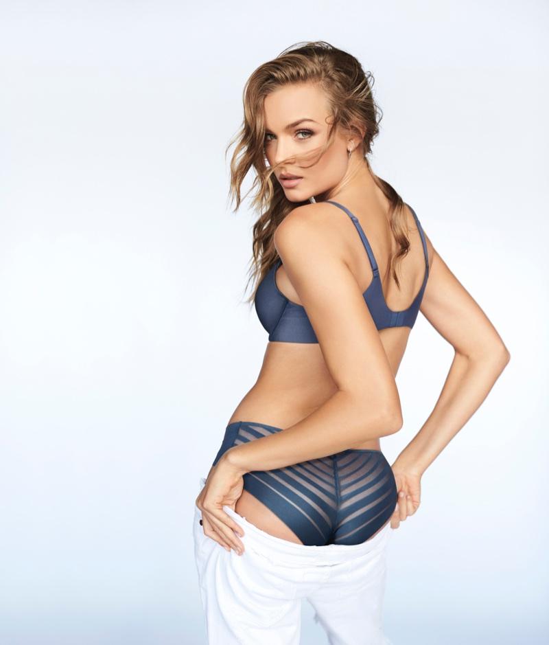 e1eca6307b8a2 Josephine Skriver models Sexy Illusions by Victoria s Secret push-up bra