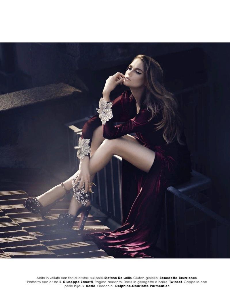 Vlada Roslyakova Poses in Elegant Ensembles for Glamour Italy