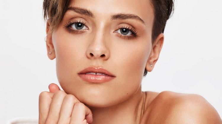 Wallis Day wears a fresh faced makeup look
