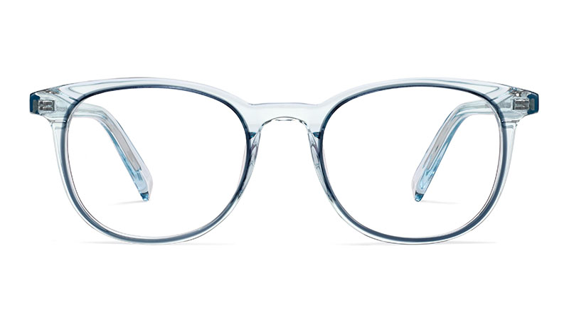 Warby Parker Durand Glasses in Traced Aquamarine Crystal $145