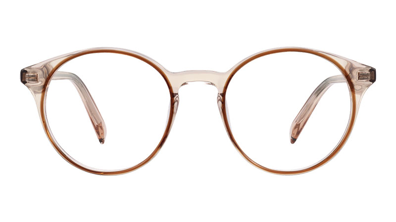 Warby Parker Morgan Glasses in Traced Cedar Crystal $145