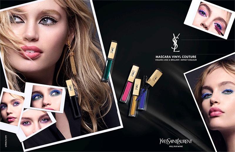Staz Lindes fronts Yves Saint Laurent Beauty Mascara Vinyl Couture campaign