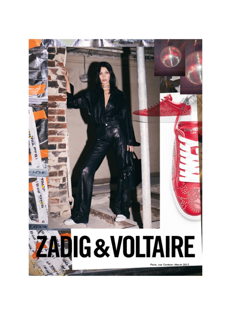 Zadig & Voltaire features Bella Hadid in its fall 2017 advertising campaign