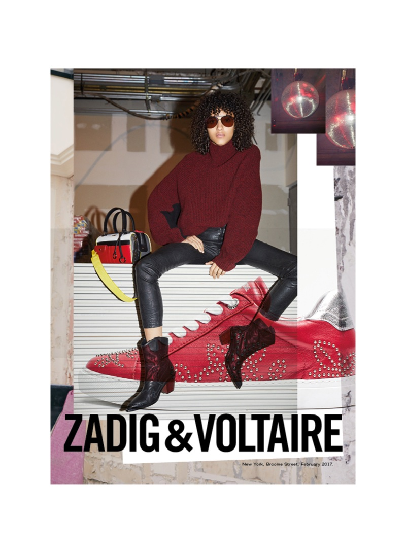 Mélodie Vaxelaire stars in Zadig & Voltaire's fall-winter 2017 campaign