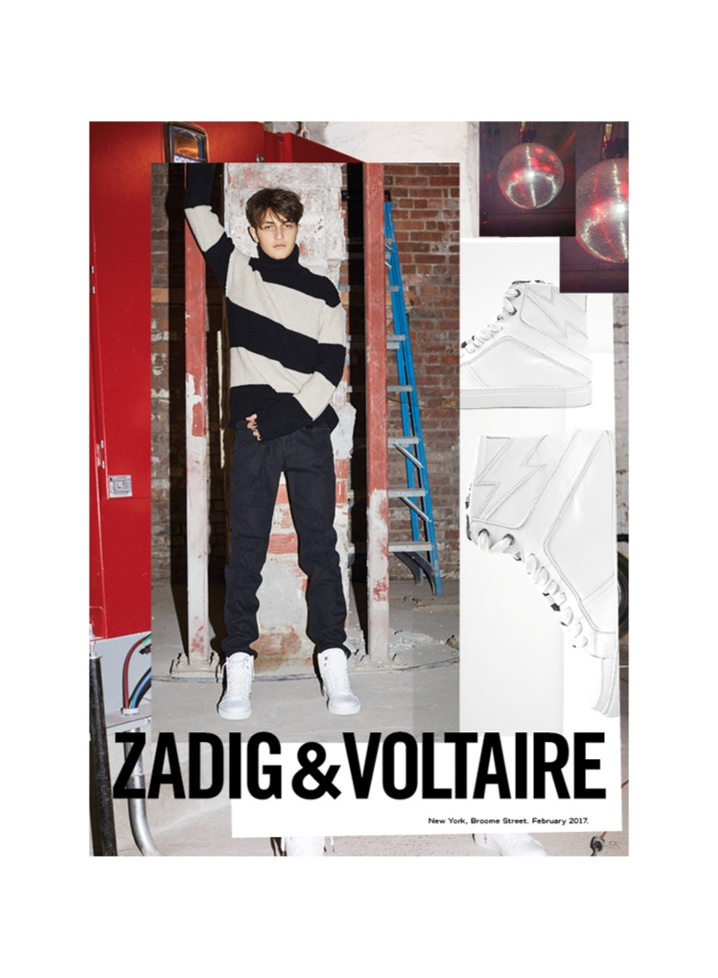 Anwar Hadid fronts Zadig & Voltaire's fall-winter 2017 campaign