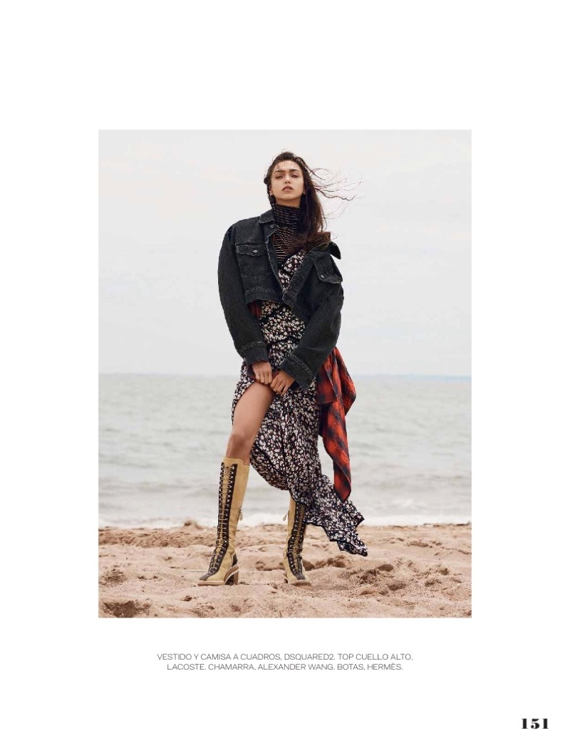 Zhenya Katava Takes On Western Style in ELLE Mexico