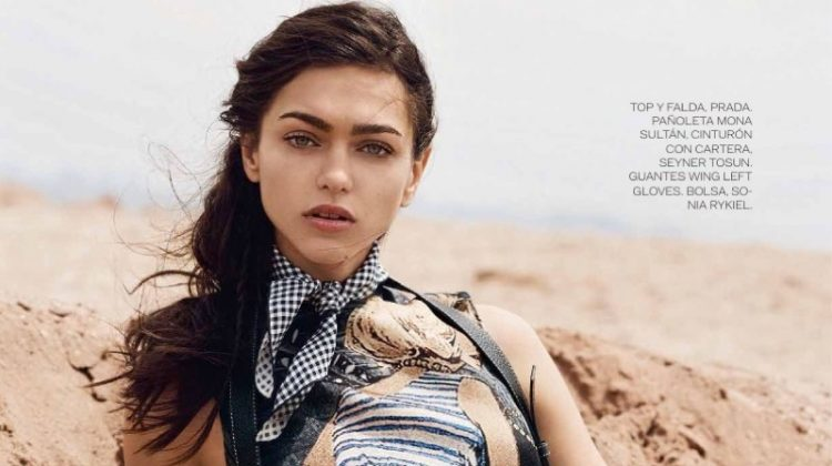 Zhenya Katava Takes On Western Style in ELLE Mexico