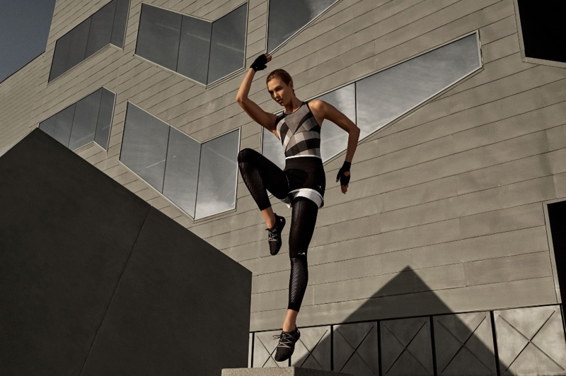 Karlie Kloss gets moving in adidas by Stella McCartney fall-winter 2017 campaign