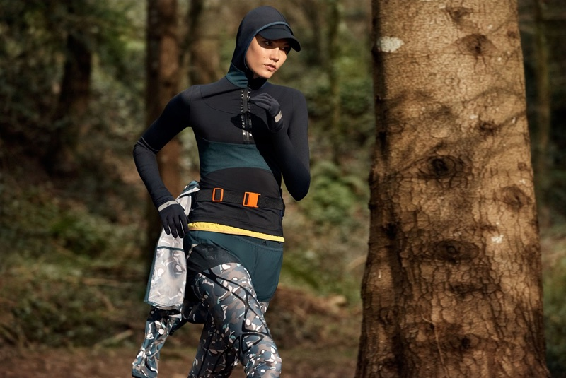 Karlie Kloss keeps in shape for adidas by Stella McCartney fall-winter 2017 campaign