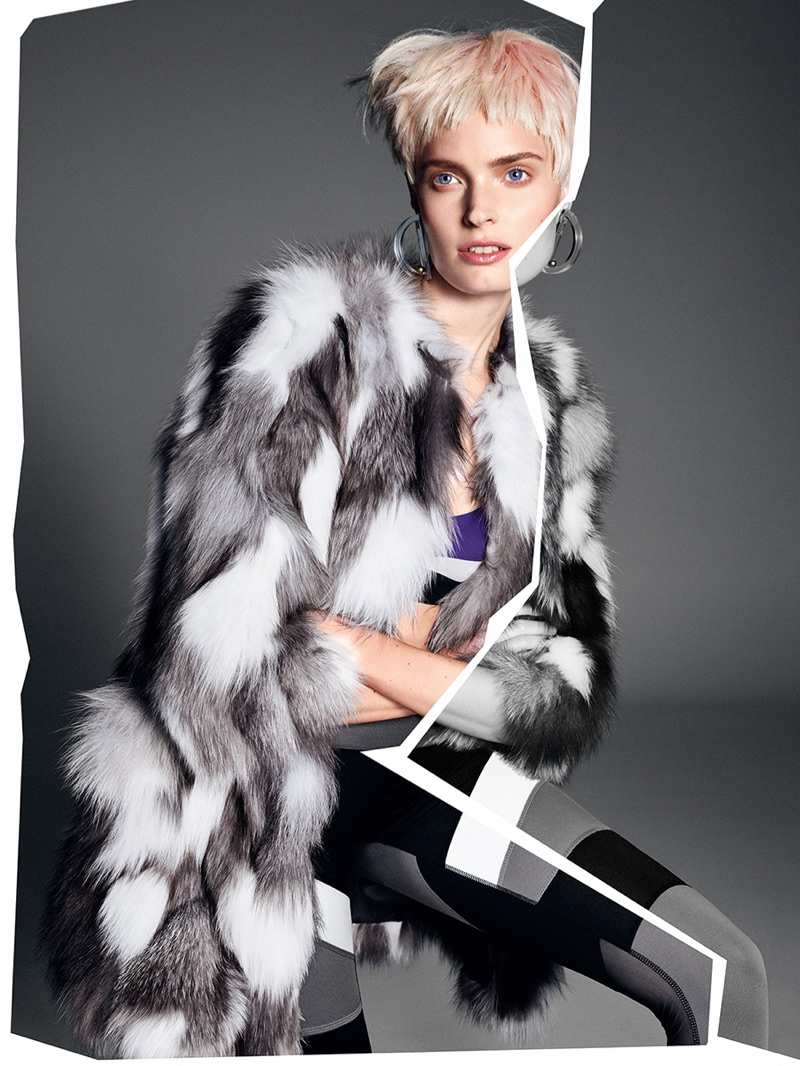 Agnete Hegelund Poses in Luxe Fur Styles for Glamour Italy