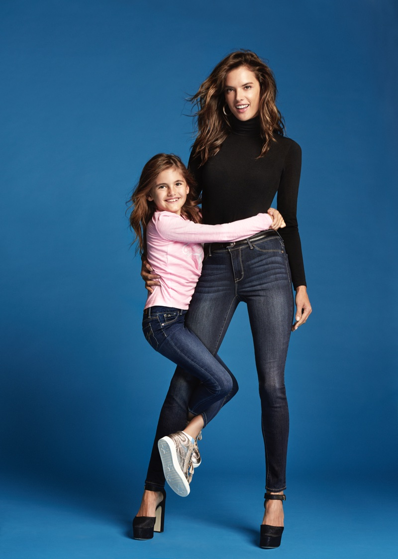 Model Alessandra Ambrosio joins daughter Anja for Jordache's fall-winter 2017 campaign