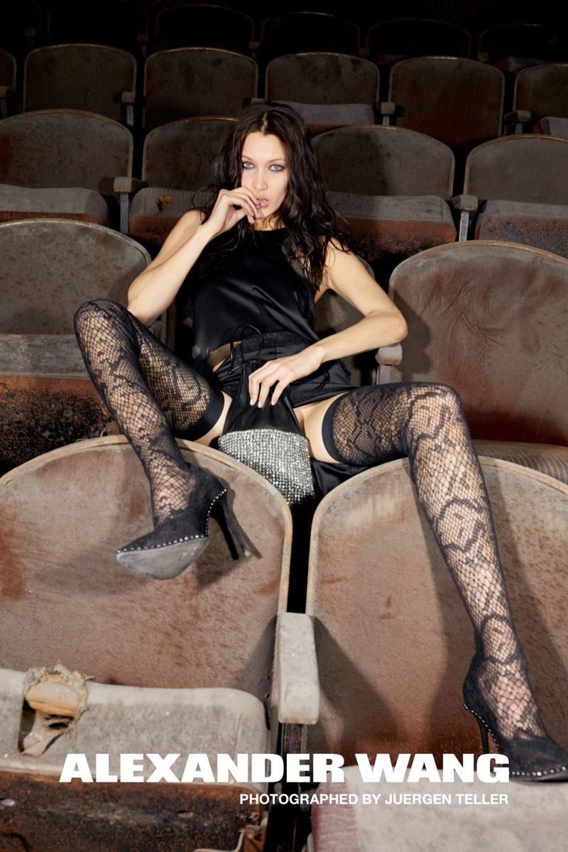 Bella Hadid stars in Alexander Wang's fall-winter 2017 campaign