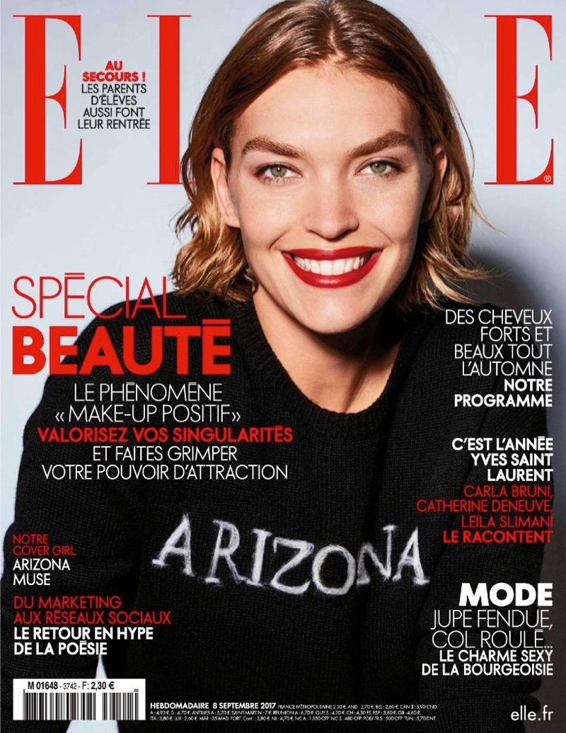 Arizona Muse Models Sophisticated Styles for ELLE France