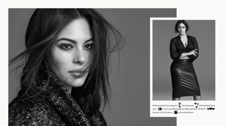 Ashley Graham stars in Marina Rinaldi's fall-winter 2017 campaign