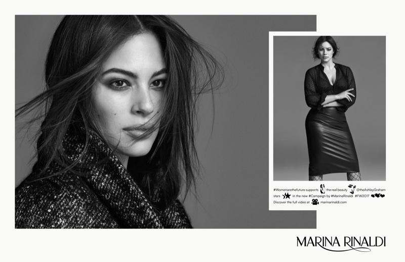 Ashley Graham stars in Marina Rinaldi's fall-winter 2017 campaign
