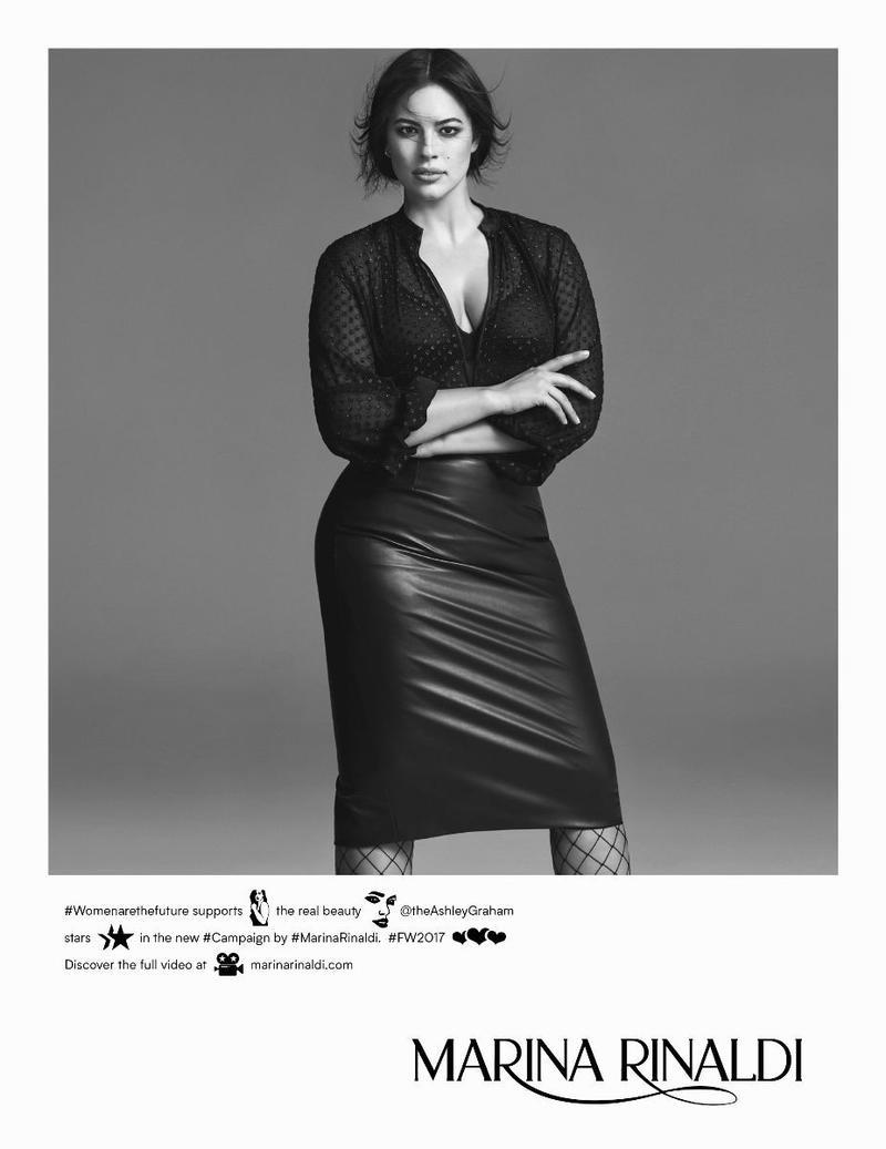 An image from Marina Rinaldi's fall 2017 advertising campaign starring Ashley Graham