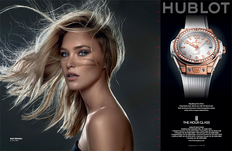 Bar Refaeli stars in Hublot Watches campaign