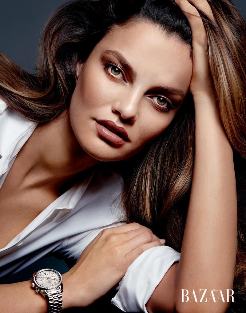 Barbara Fialho Dazzles in Luxury Watches for Harper's Bazaar Singapore