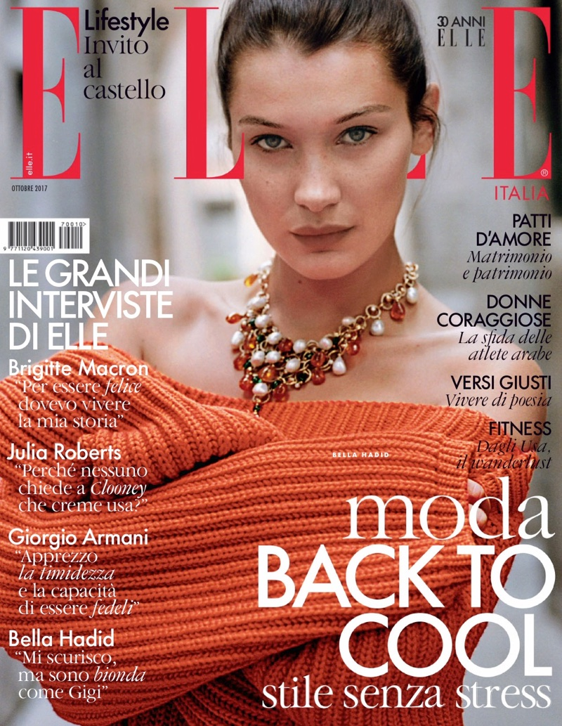 Bella Hadid on ELLE Italy October 2017 Cover