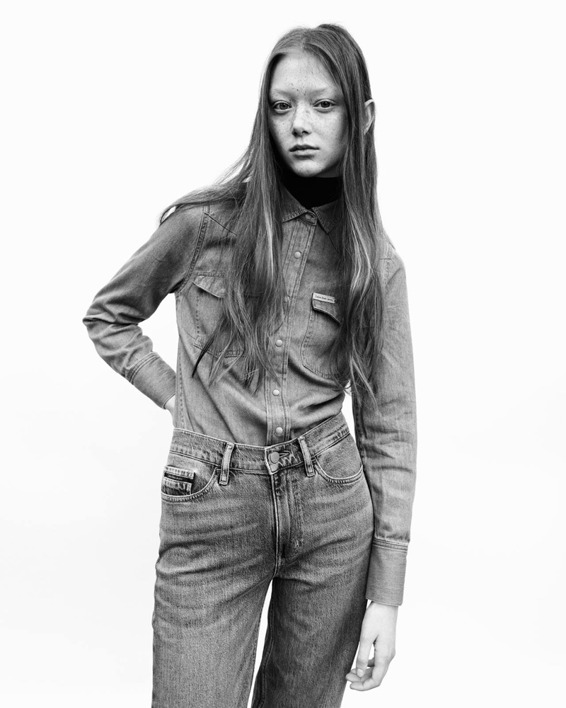 Calvin Klein Jeans unveils fall-winter 2017 campaign with Sara Grace Wallerstedt