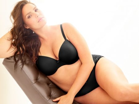 Candice Huffine Flaunts Her Curves in Torrid Lingerie Campaign