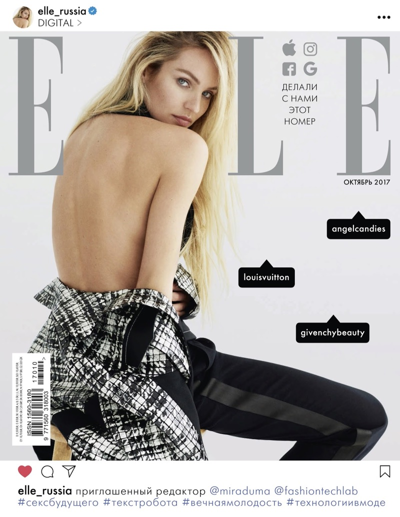 Candice Swanepoel Layers Up in Fall Outerwear for ELLE Russia