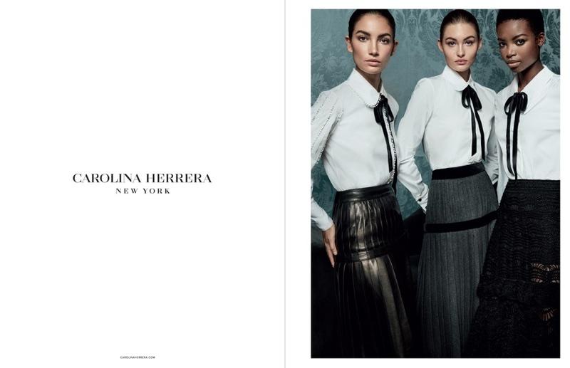 An image from Carolina Herrera's fall 2017 advertising campaign