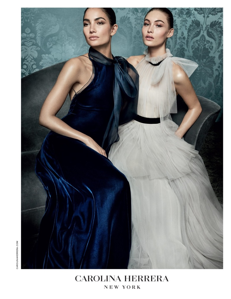 Gowns take the spotlight in Carolina Herrera's fall-winter 2017 campaign